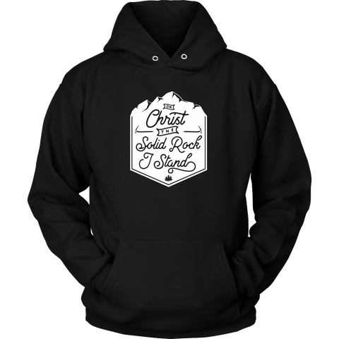 Womens Solid Rock I Stand Hoodie