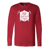 """Christ the Solid Rock"" Mens Long Sleeve Shirt"