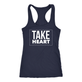 "Racerback ""Take Heart"" - Light Jersey Tank"