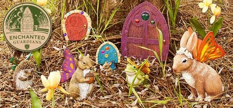 Enchanted Guardians Whimsical Fairy Animal Garden Statue Collection by Department 56