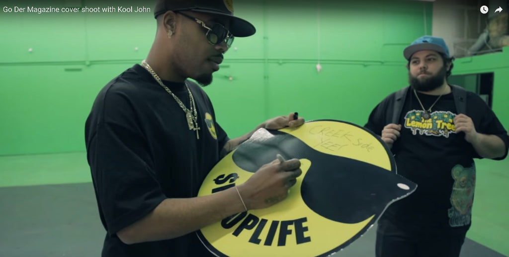 Lemon Tree T-Shirt in Behind the scenes Go Der Magazine cover shoot with Kool John