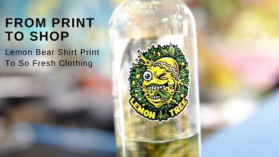 From Print To Shop - Lemon Bear Shirt