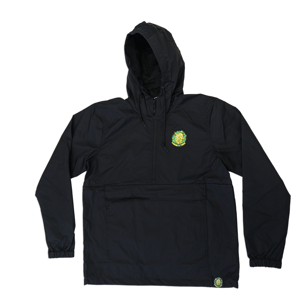 Lemon Tree Splat All Weather Windbreaker - Black