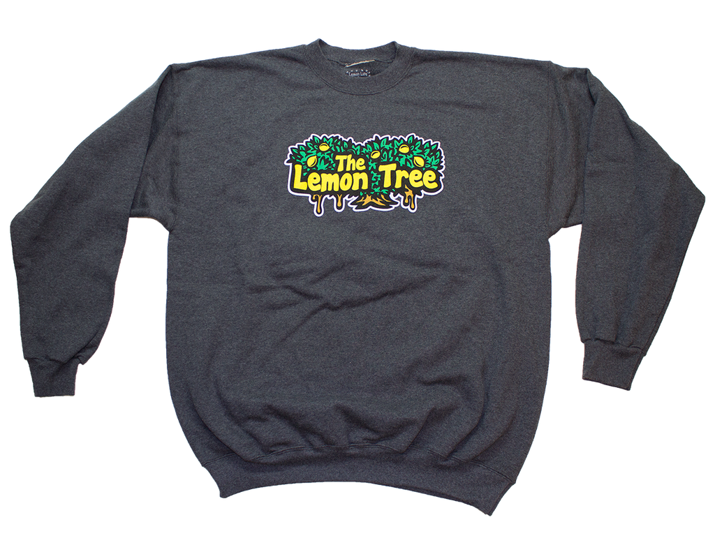 Lemon Life Original Charcoal Grey Crewneck - The Lemon Tree