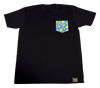 Lemon Life Custom Pocket T-shirt blue/yellow