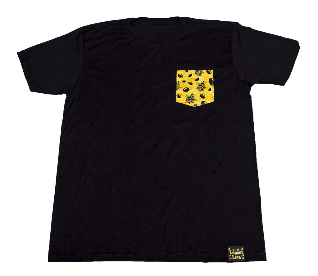 LemonLife Custom Pocket T-shirt yellow/black