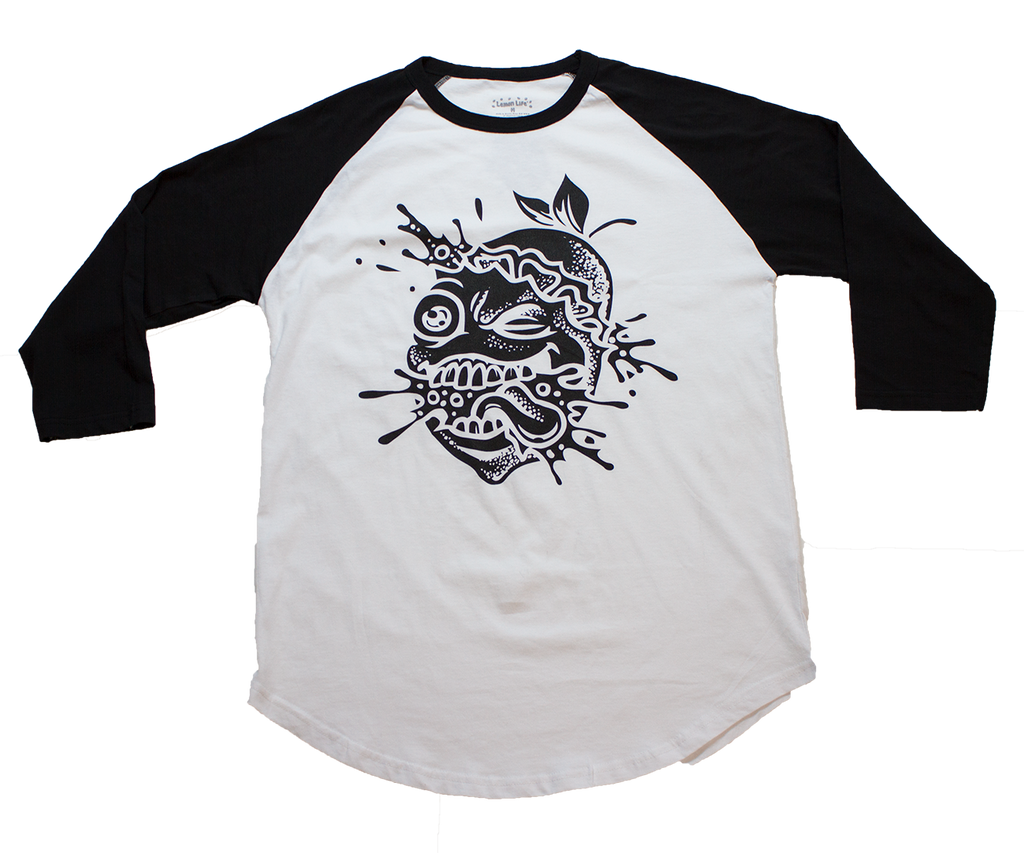 Lemon Tree Splat Baseball T-Shirt