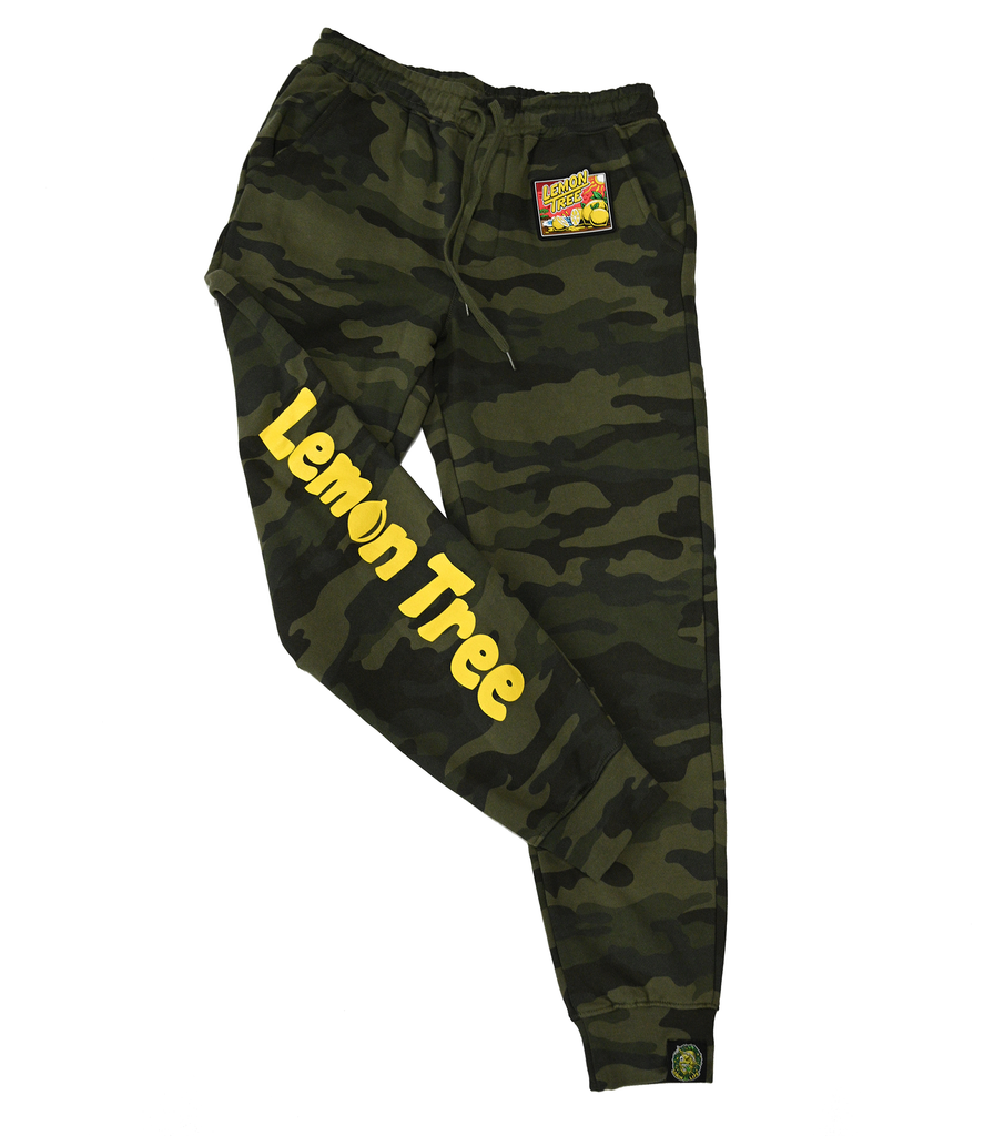 Lemon Tree Forrest Green Camo Sunset Joggers