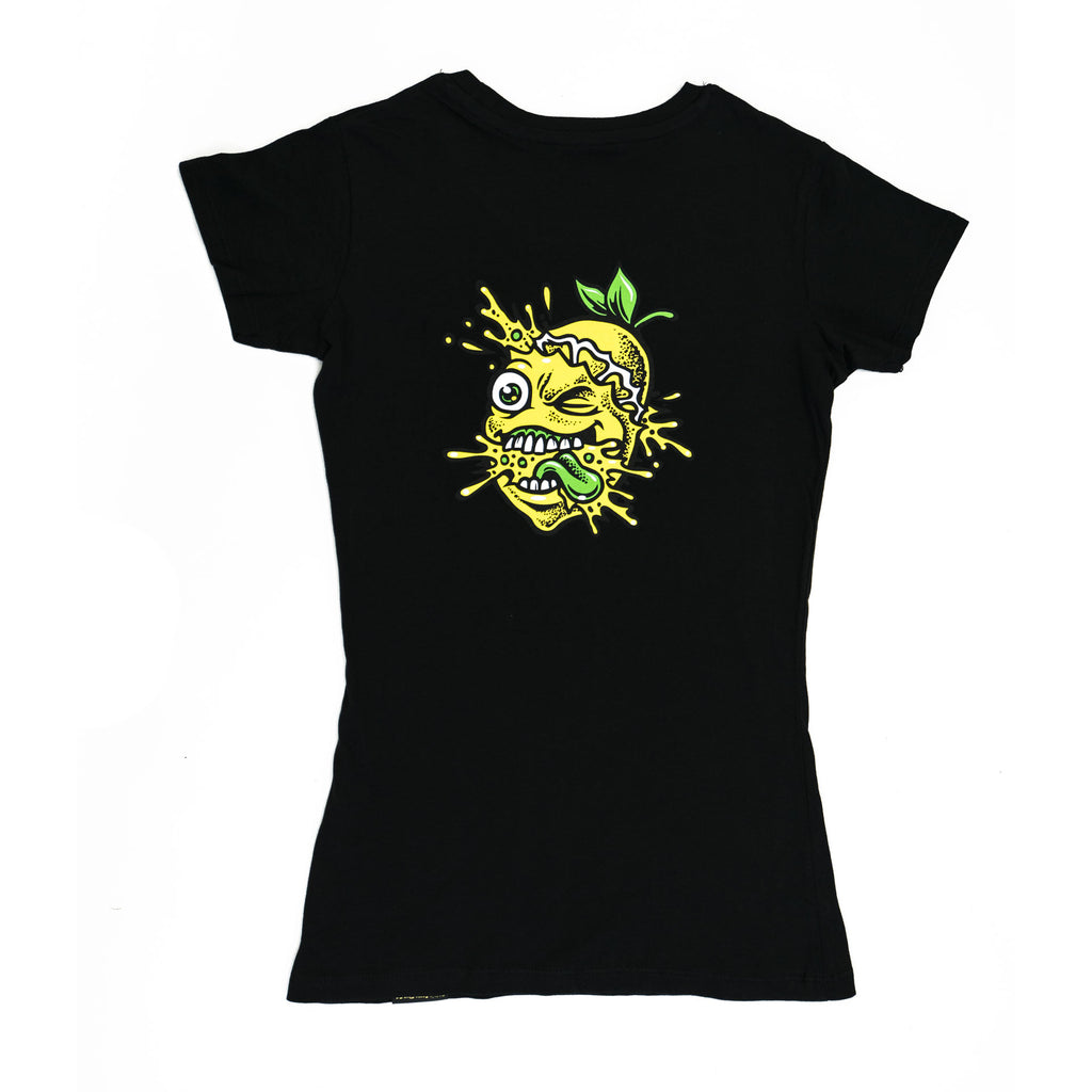 Ladies Lemon Splat Shirt Black
