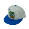 Lemon Life Roots Hat Grey with Blue Bill - The Lemon Tree