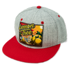 Lemon Tree Sunset Hat Grey with Red Bill