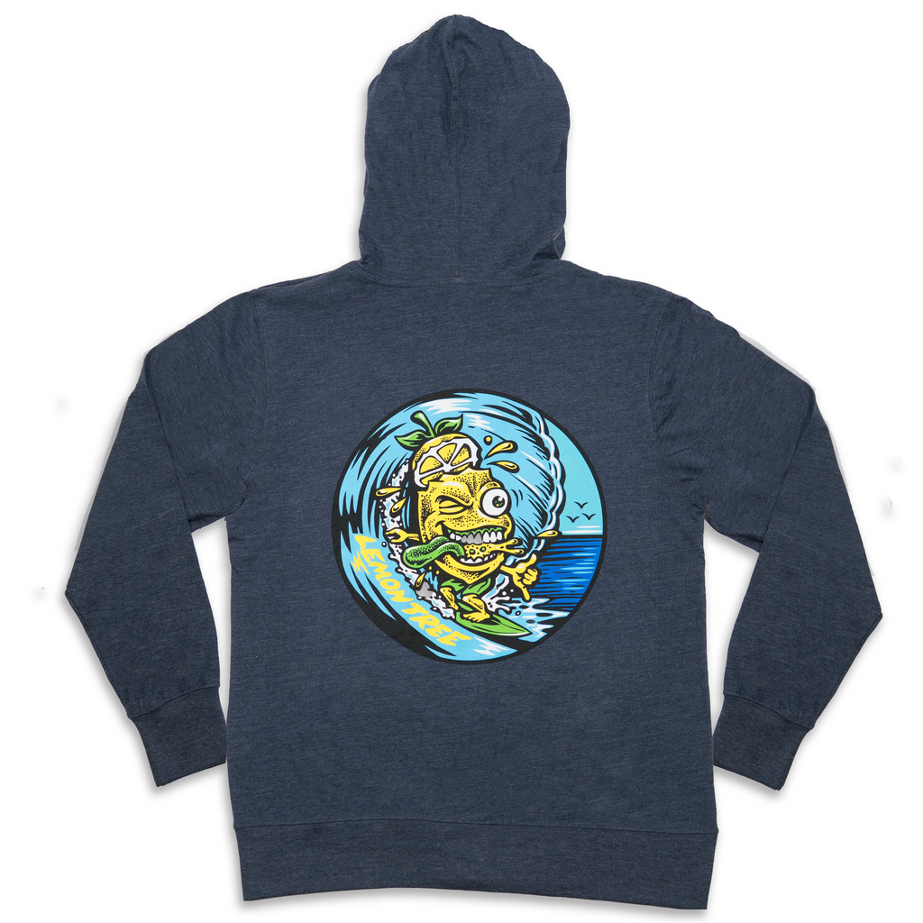 Surfing Lemon Long Sleeve Zip Up