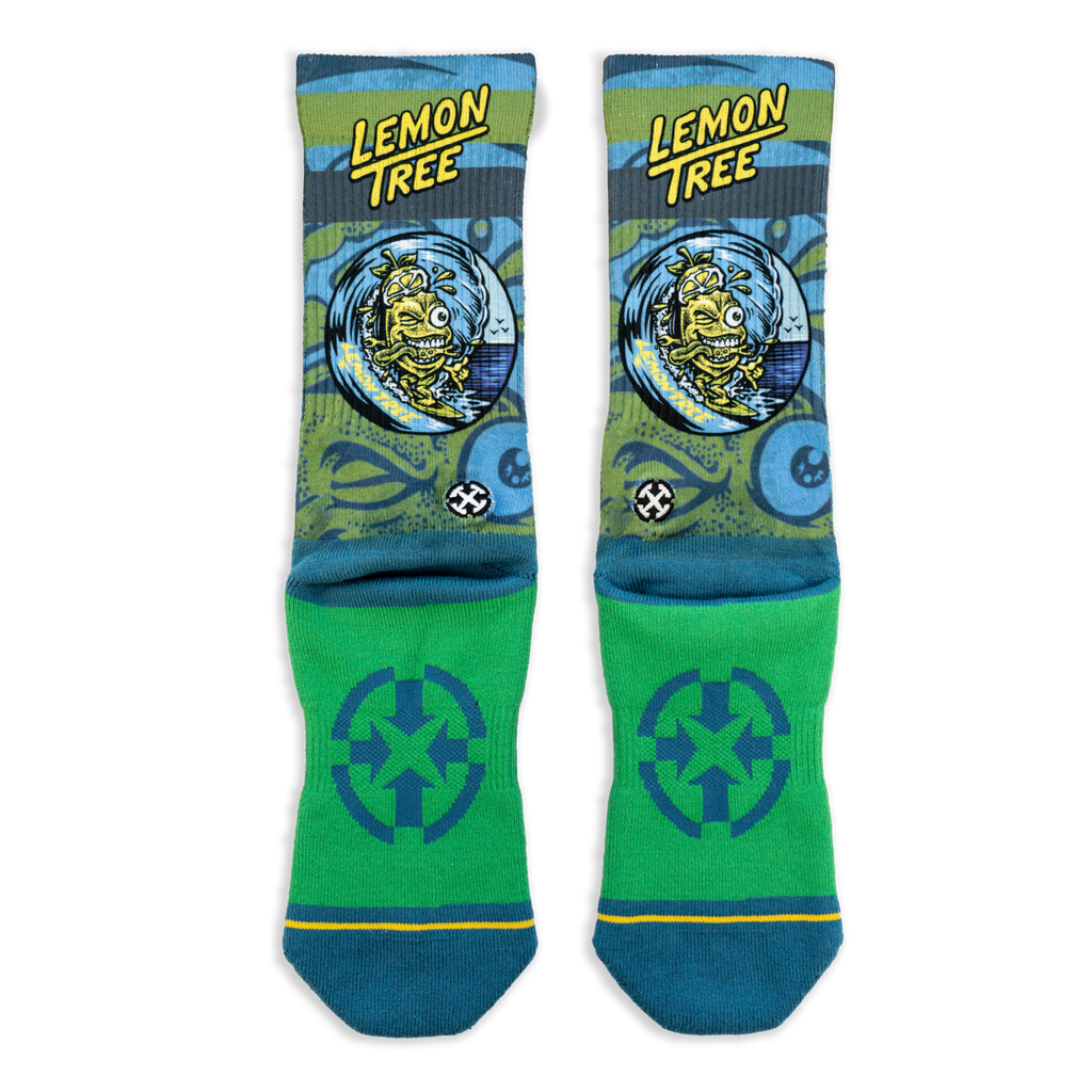 Lemon Tree Surfer Socks
