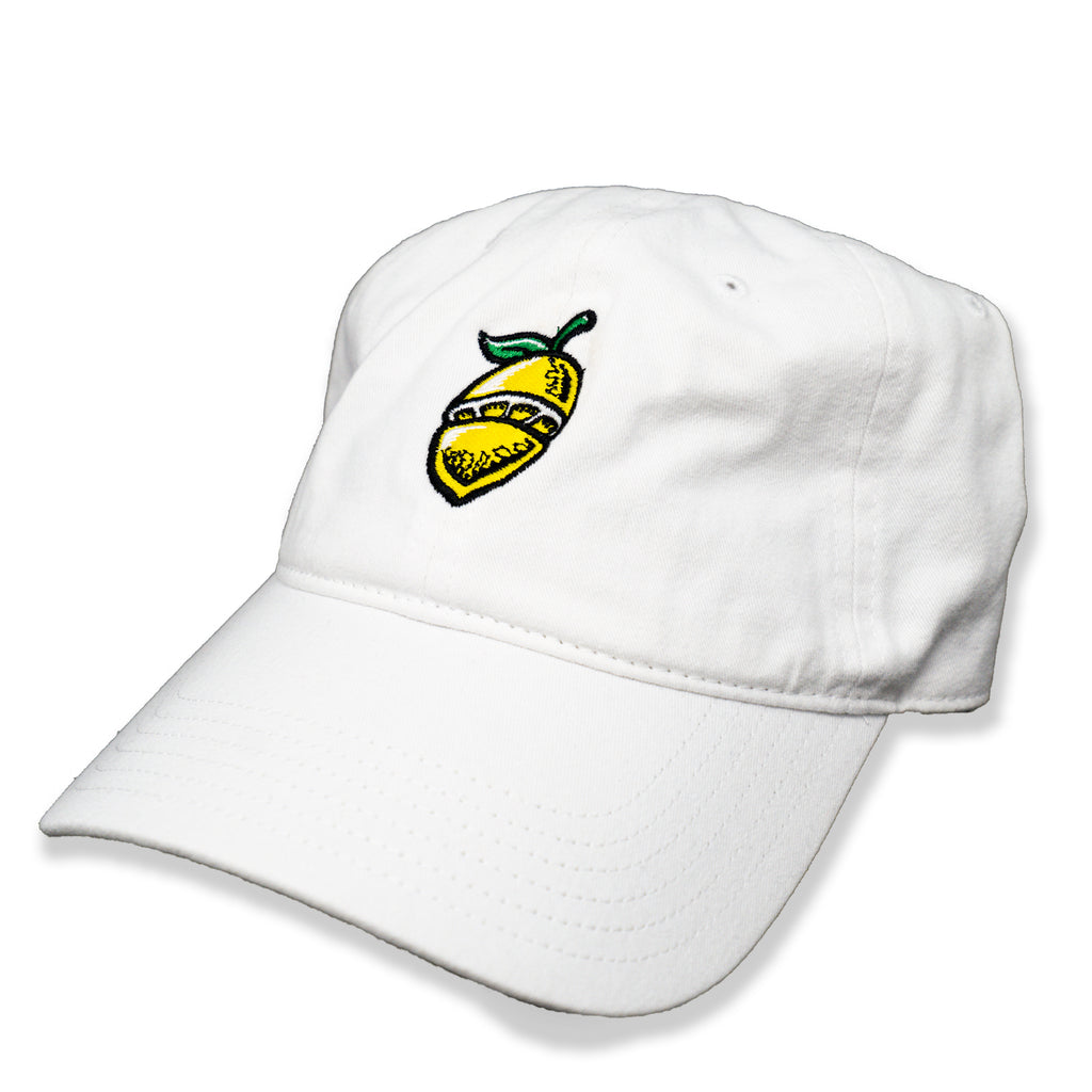 Lemon Symbol Dad Hat White