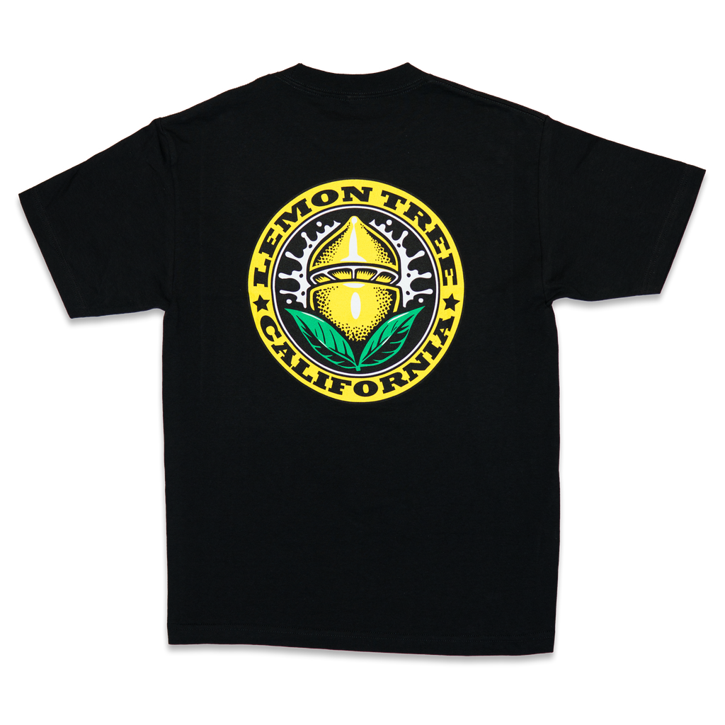 Lemon Tree California Seal Black T-Shirt