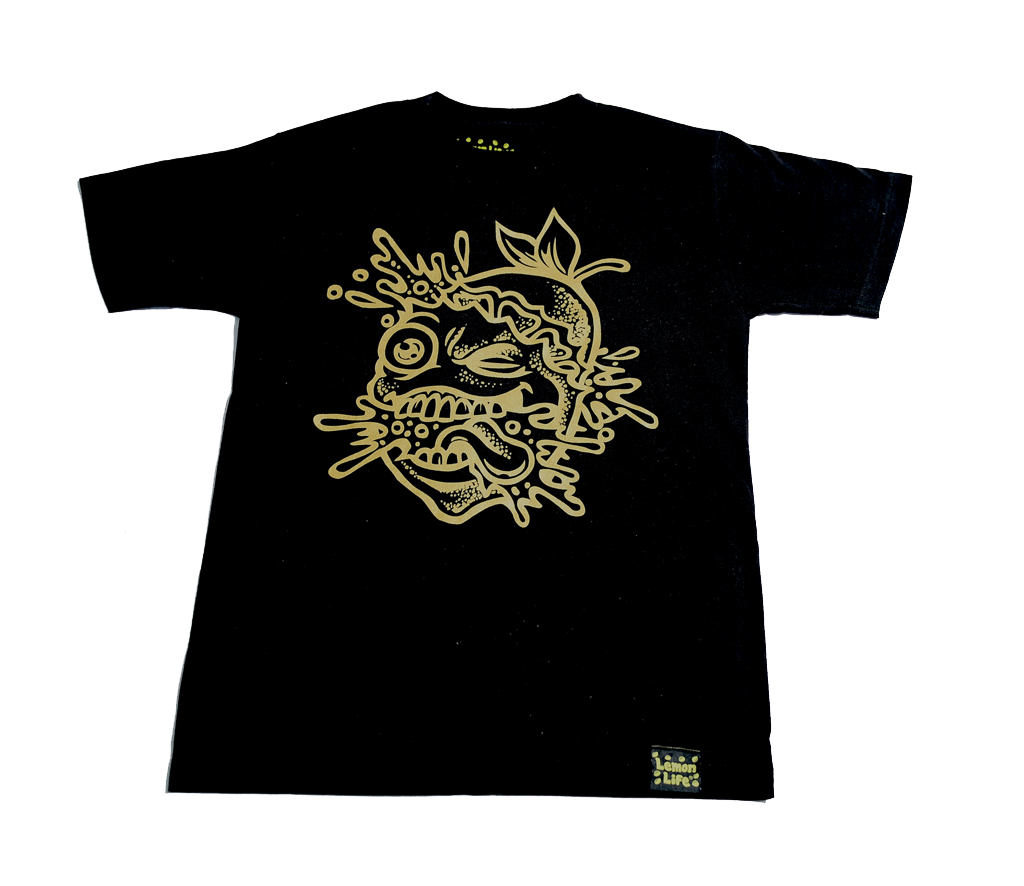 "The ""Lemon Splat Outline"" T-Shirt - Black"