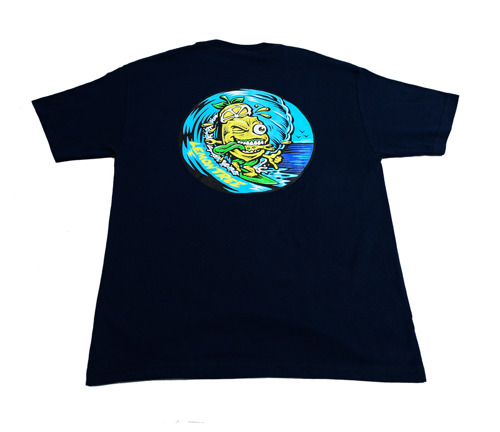 "The ""Surfing Lemon"" T-Shirt - Navy"
