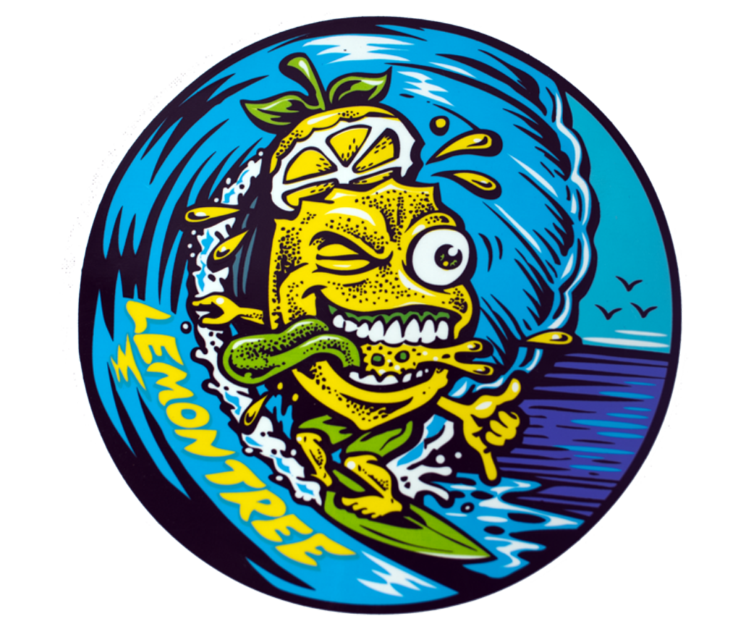 "The ""Surfing Lemon"" Sticker"
