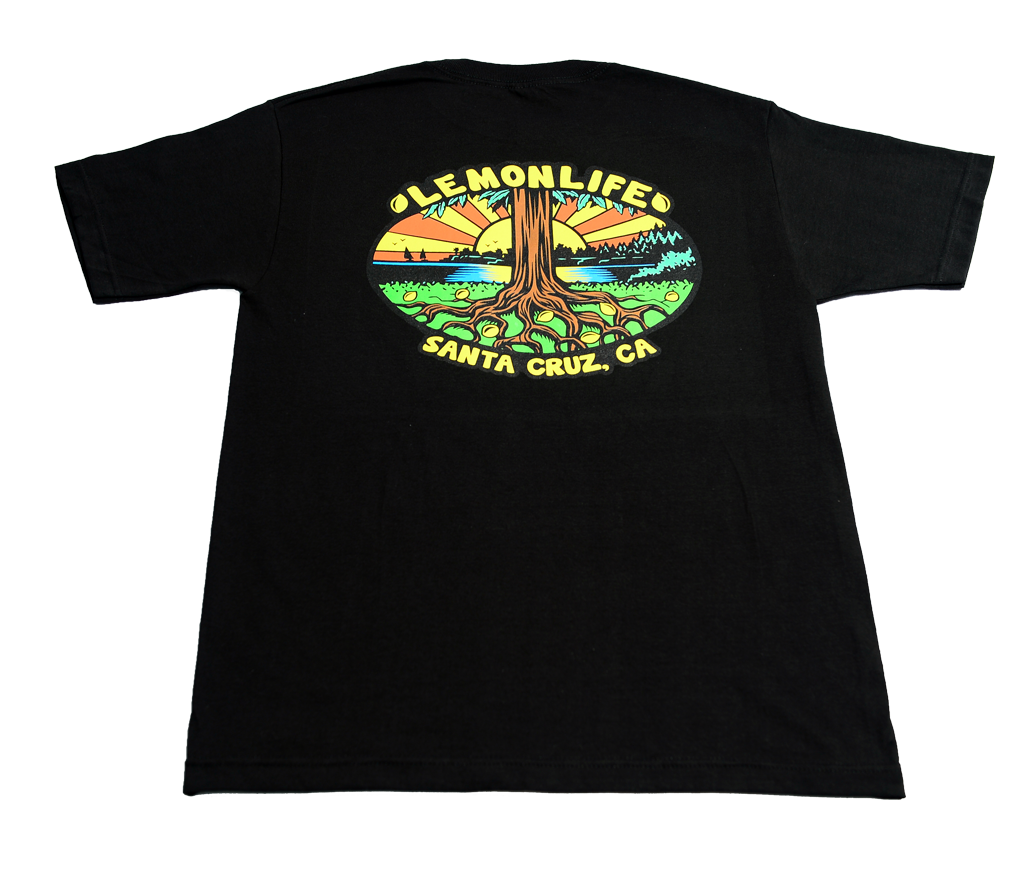 "The ""Lemon Life Tree"" T-Shirt - Black"