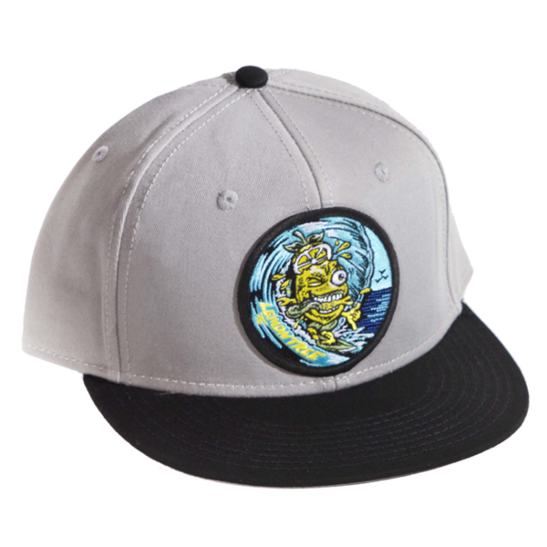 Surfing Lemon Hat Grey And Blue Bill