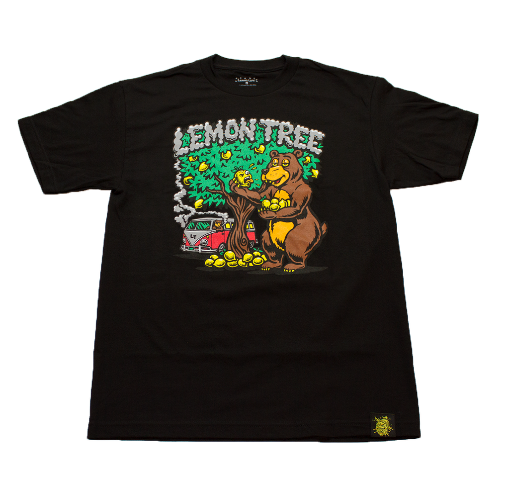 Lemon Bear T-shirt Black - The Lemon Tree