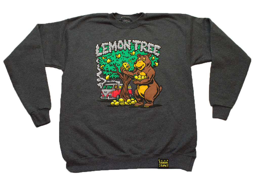 Lemon Bear Crewneck Grey - The Lemon Tree