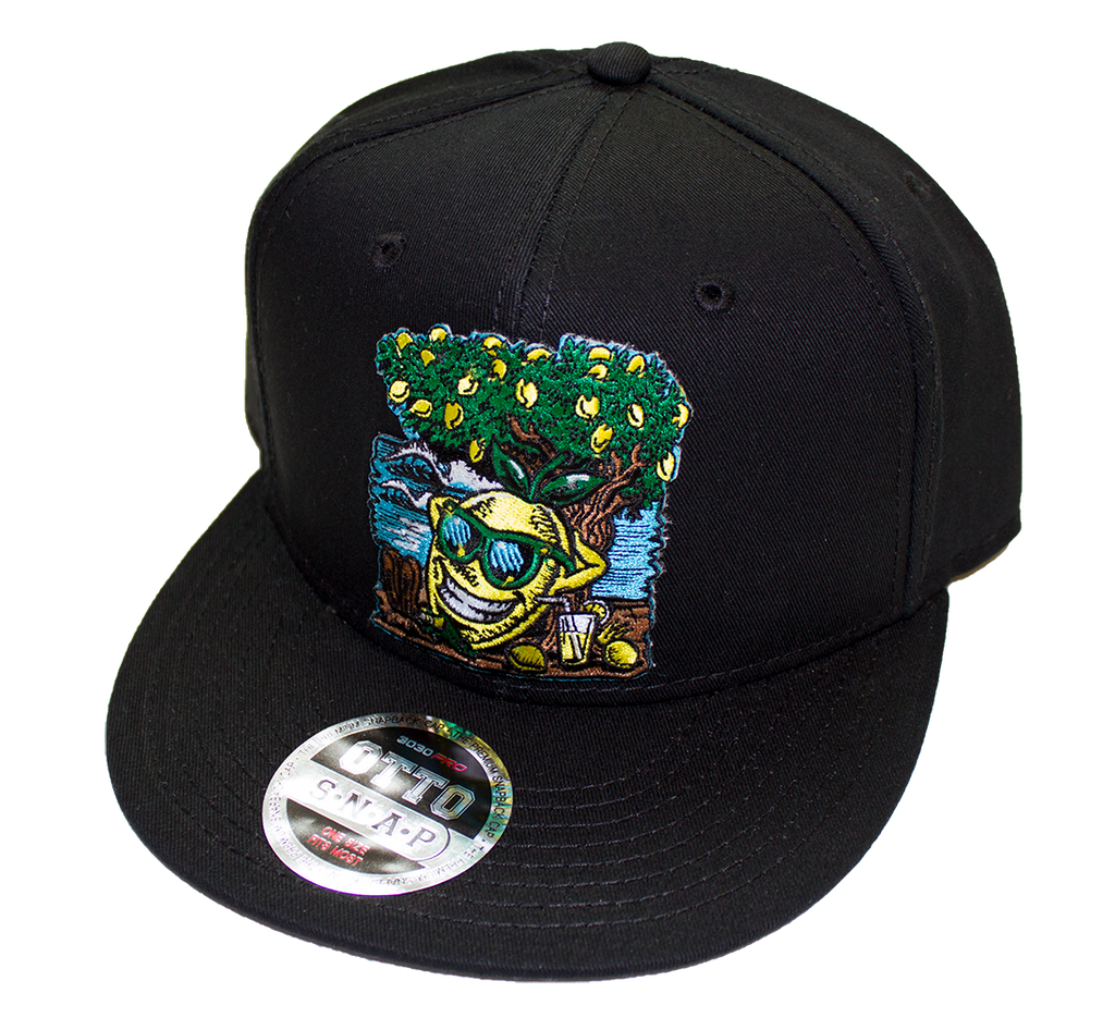 Lemon Life Beach Black Snap Back Hat - The Lemon Tree