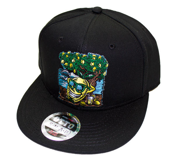 Lemon Life Beach Black Snap Back Hat