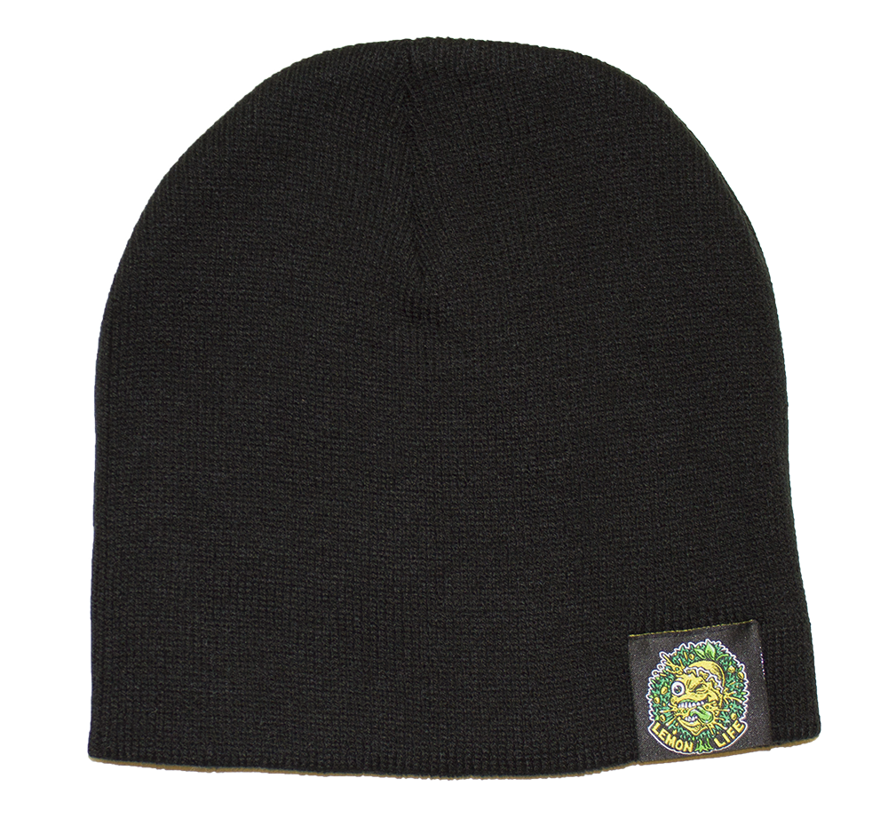 Lemon Life Beanie Black - The Lemon Tree