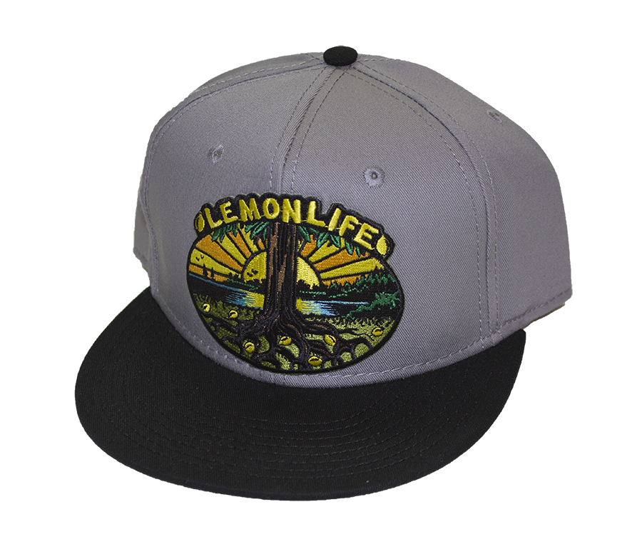 Lemon Life Tree Snapback Grey/Black bill - The Lemon Tree