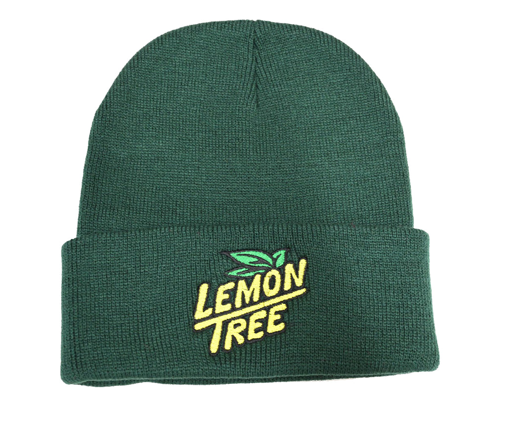 Lemon Tree Beanie Embroidered Logo Green