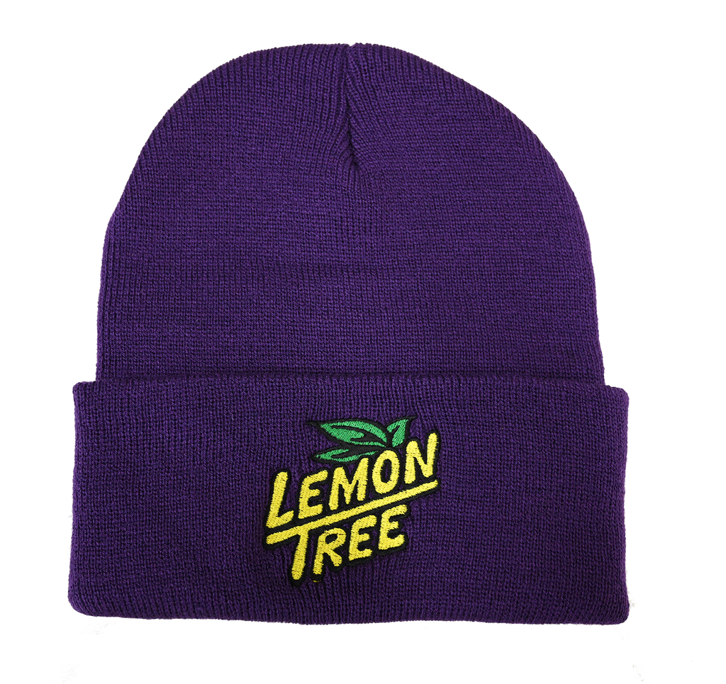 Lemon Tree Beanie Embroidered Logo Purple