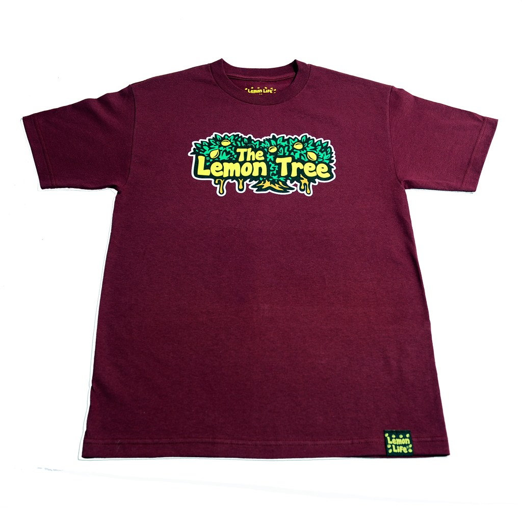"The Lemon Tree ""Original T-Shirt"" - Maroon"