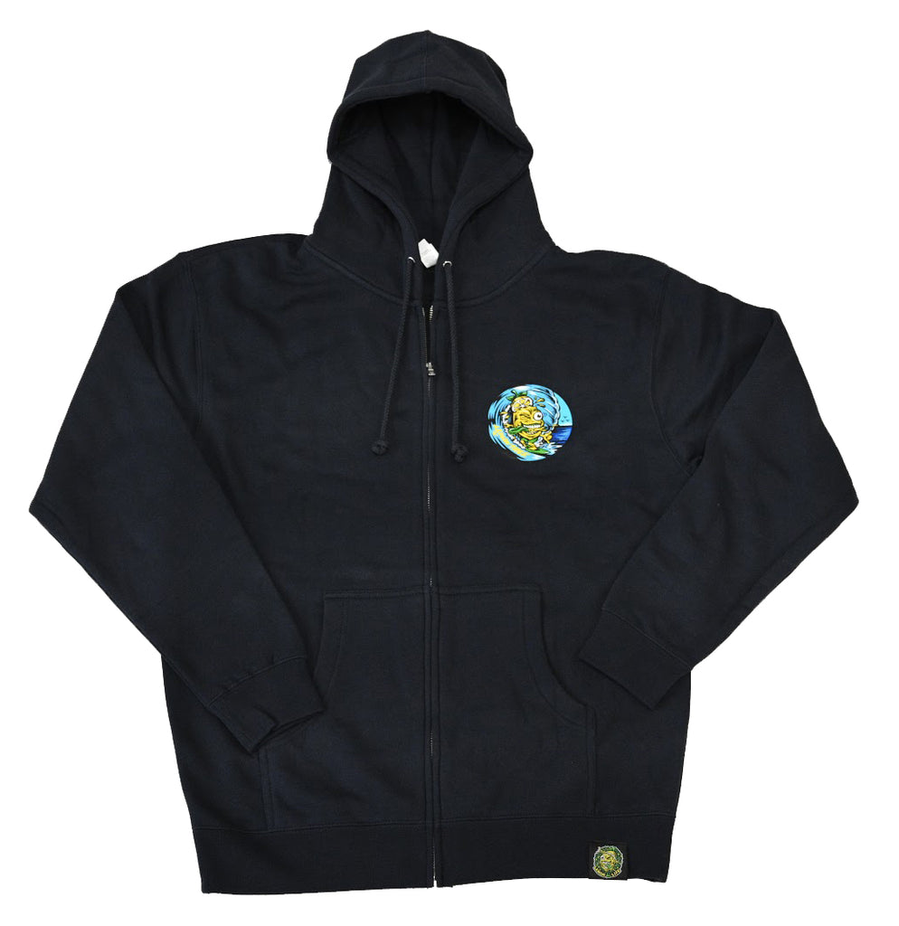 Lemon Tree Surfer Zip Up Hoodie Navy Blue