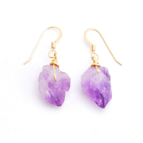 Pisa Amethyst Earrings