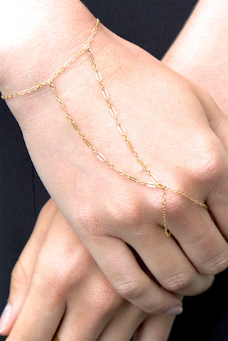 Andorra 14k Gold Filled Hand Chain