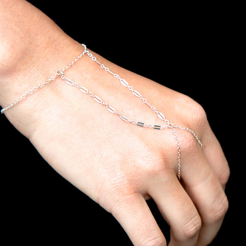 Andorra Sterling Silver Hand Chain