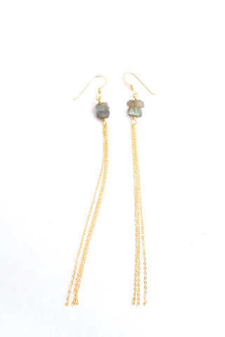 Athens Labradorite Earrings