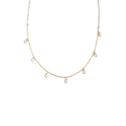 Audra Mini Opal Necklace