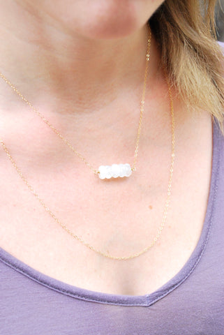 Cannes Moonstone Necklace