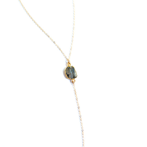 Cardiff Labradorite Y-Necklace