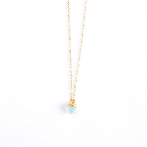 March Birthstone Necklace (Aquamarine)