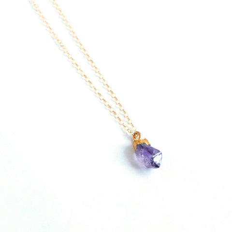 February Birthstone Necklace (Amethyst)