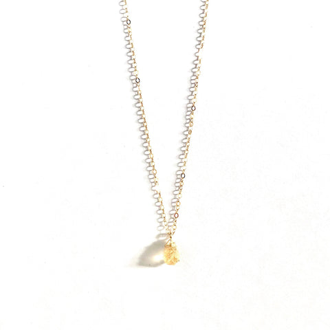 November Birthstone Necklace (Citrine)