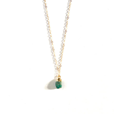 May Birthstone Necklace (Emerald)
