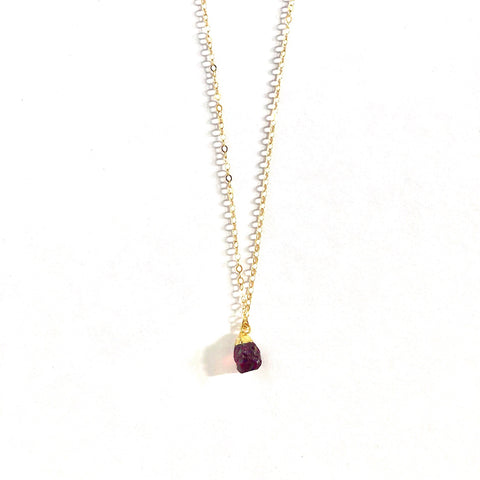 January Birthstone Necklace (Garnet)