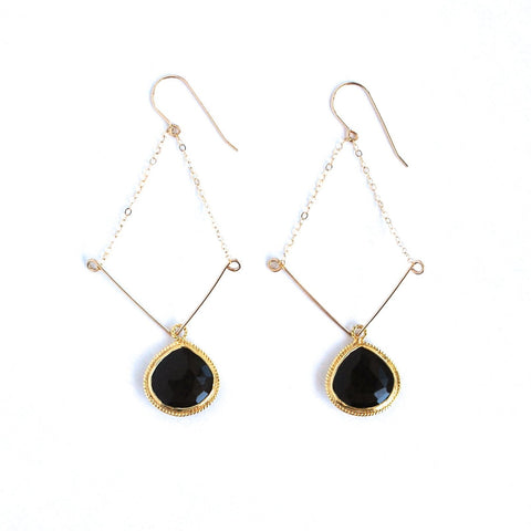 Grenada Black Onyx Earrings