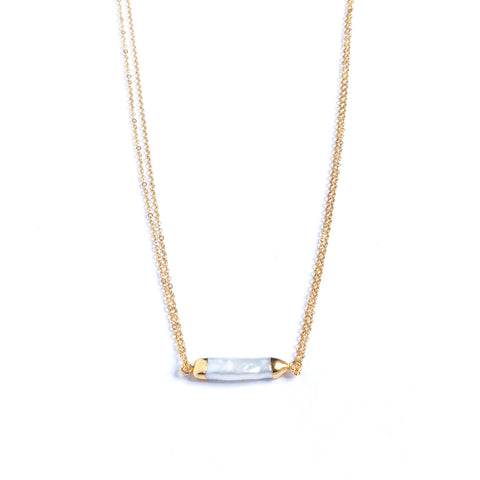 Hanalei Pearl Bar Necklace