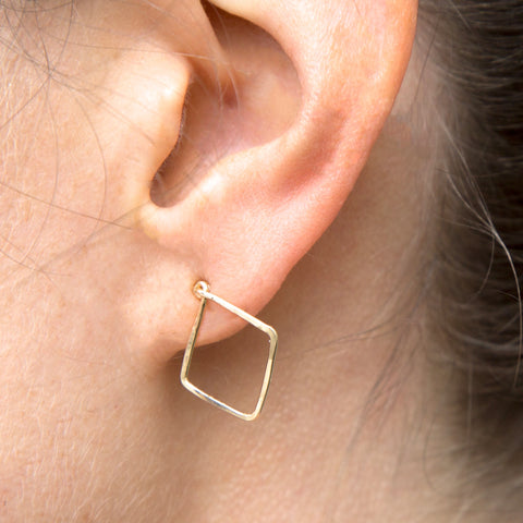 Marrakesh Gold Stud Earrings