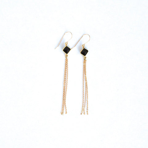 Medano Onyx Earrings